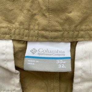 Columbia Pants - Columbia Hiking Casual Pants Mens Size 30 x 32
